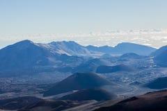 Vulkanische krater bij het Nationale Park van Haleakala op het Eiland Maui, Hawaï Stock Foto