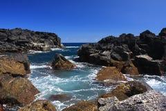 Vulkanische kust royalty-vrije stock afbeelding