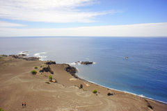 Vulkanische kust Royalty-vrije Stock Foto's