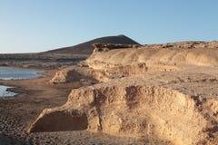 Vulkanische kustlijn Stock Afbeelding