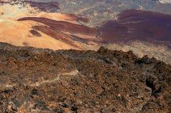 Vulkanische Landschaft EL Teide, Teneriffa, Spanien Lizenzfreie Stockfotografie