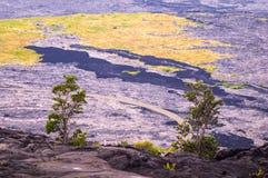 Vulkanische Landschaft im Vulkan-Nationalpark, große Insel, Hawaii lizenzfreie stockfotos