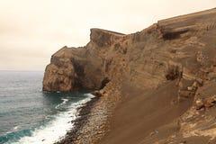 Vulkanische Landschaft von Faial-Insel, Azoren stockfotos