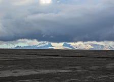 Vulkanische Landschaft von Holuhraun, Hochländer von Island, Europa stockbild