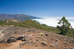 Vulkanische Landschaft von La Palma, Kanarische Inseln stockbild
