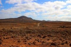Vulkanische Lanzarote-Landschaft Stockbild