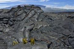 Vulkanische Lava bei Mauna Loa. Stockfotografie