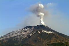 Vulkanische pluim Stock Foto's