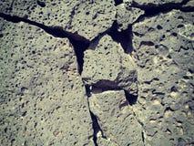 Vulkanische rotsmuur Royalty-vrije Stock Afbeelding