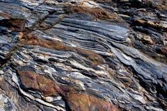 Vulkanische rotstextuur Royalty-vrije Stock Foto's