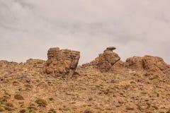 Vulkanische rotsvormingen in de anti-Atlasbergen van Marokko royalty-vrije stock afbeelding