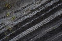 Vulkanische Schichten an Taal-Vulkan in den Philippinen stockfotografie