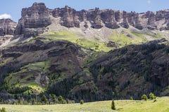 Vulkanische Talusklippen Carter Mountains Lizenzfreie Stockbilder