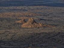 Vulkanische top dicht bij Erta-Aalvulkaan, Ethiopië stock foto's