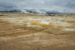 Vulkanische Wüste Stockfotos