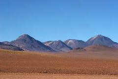 Vulkanische waaier in Atacama Woestijn, Chili Stock Foto's