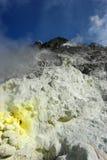Vulkanische zwavel Stock Afbeeldingen