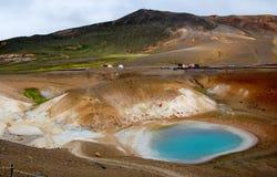 Vulkanischer Bereich, Viti See in Island Lizenzfreie Stockbilder