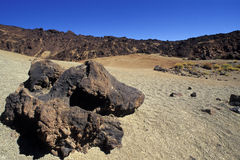 Vulkanischer Felsen im Canadas Lizenzfreie Stockfotografie