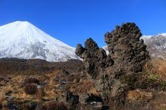 Vulkanischer Felsen, Nationalpark Tongariro lizenzfreie stockbilder