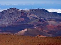 Vulkanischer Krater Haleakala lizenzfreie stockfotografie