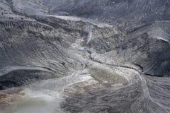 Vulkanischer Krater Tangkuban Perahu, Kawah Ratu West-Java Indonesia lizenzfreie stockfotos