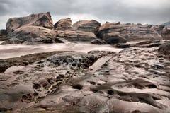 Vulkanischer Landform, Taiwan Stockfotos