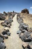 Vulkanischer Pfad Stockbild