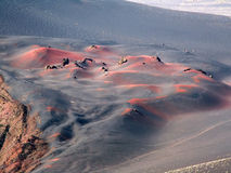 Vulkanischer Sand Stockfotografie