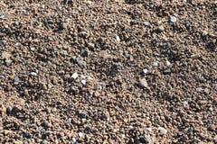 Vulkanischer schwarzer Sand in Teneriffa Stockbilder