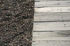 Vulkanischer schwarzer Sand in Teneriffa Lizenzfreie Stockfotografie