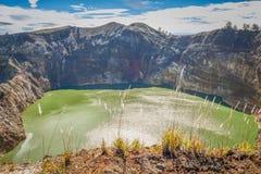 Vulkanischer See Stockfotos