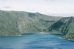 Vulkanischer See von den Azoren 2 Stockbild