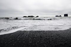 Vulkanischer Strand Stockfotografie