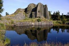Vulkanisches Eruptivgestein Stockbild