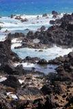 Vulkanisches Nordufer St. Kitts Lizenzfreie Stockfotografie