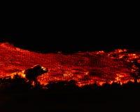 Vulkanisches verheerendes Feuer stockfotos