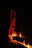 Vulkanisches verheerendes Feuer stockbild