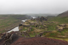 vulkanisk iceland liggande arkivfoto