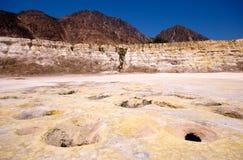 Vulkanisk krater Fotografering för Bildbyråer