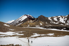 vulkanisk krater Arkivbild