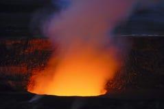 Vulkanisk krater i den stora ön av Hawaii Arkivbild