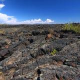 vulkanisk kraterliggandemoon Arkivfoton