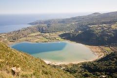 vulkanisk lakepantelleria Arkivfoto