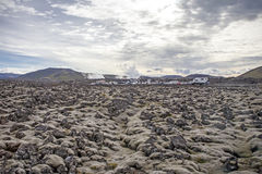 vulkanisk liggande Arkivbild
