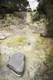 vulkanisk mineralisk ström Fotografering för Bildbyråer