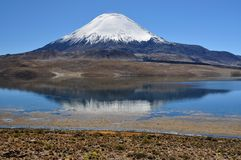 Vulkanisk reflexion Royaltyfria Bilder