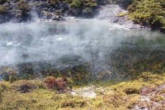 Vulkanisk sjö på waimanguen Arkivbild