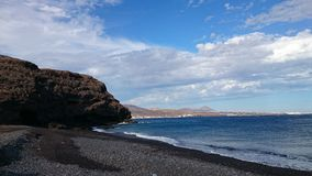 vulkanisk strand Arkivfoton