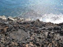Vulkanisk svart strand i Tenerife Royaltyfri Foto